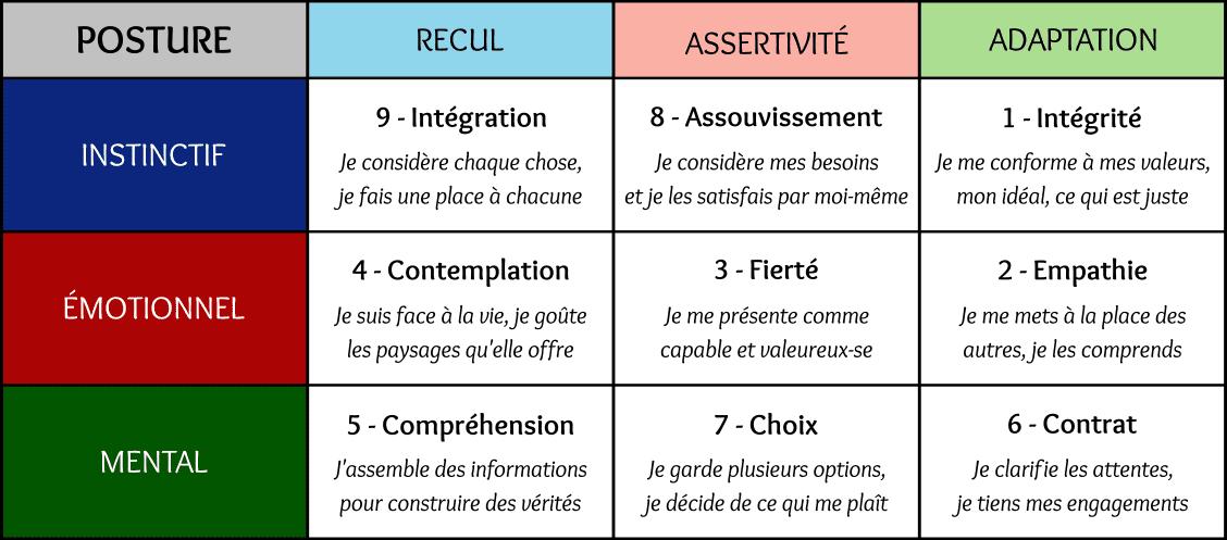 Ennéatoile - la posture dans l'Ennéagramme. Recul, assertivité, adaptation. Etienne Gigand, Uniliance.